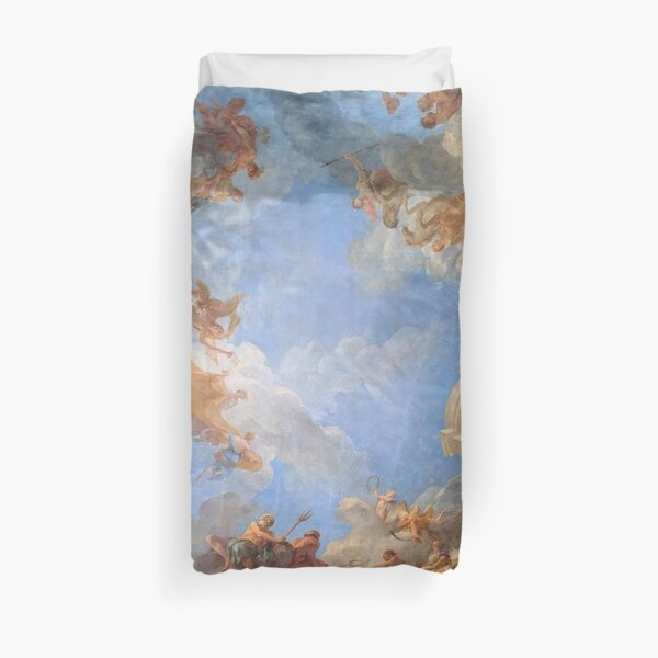 Fresco of Angels in the Palace of Versailles Duvet Cover