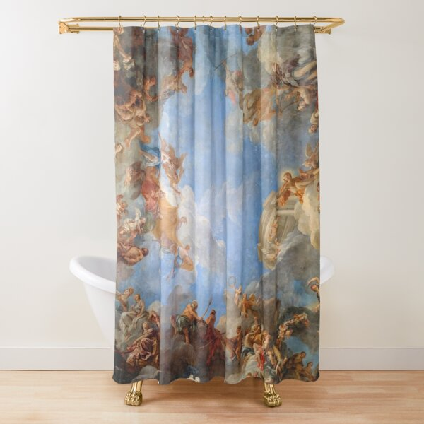 Fresco of Angels in the Palace of Versailles Shower Curtain