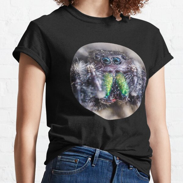 Lil' Hairy Face, Jumping Spider Macro Photograph Classic T-Shirt