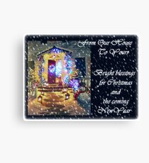Snowy and Bright Blessings for Christmas Canvas Print