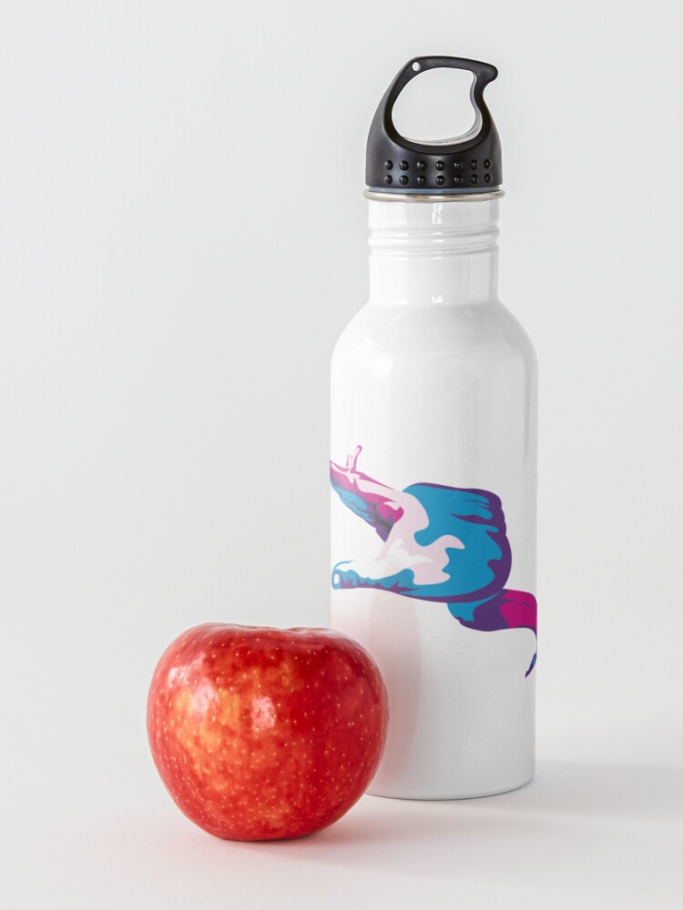 Alternate view of Moray Eel Hand Signal Water Bottle