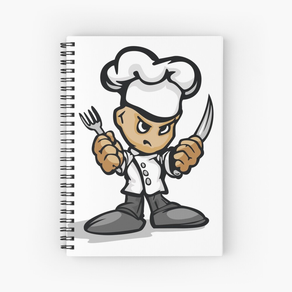Angry Chef  Spiral Notebook