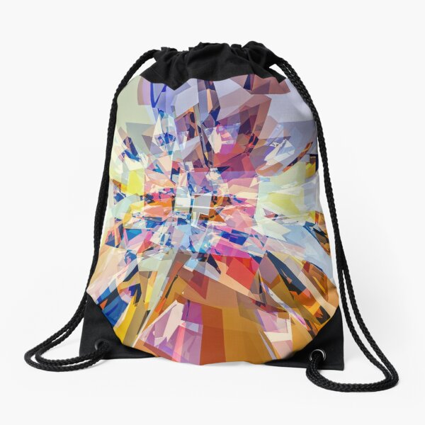 Geometry of Color Drawstring Bag