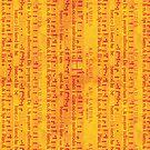 Red Music on Orange by pjwuebker