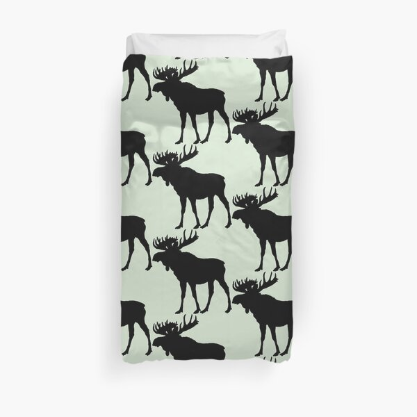 Moose Silhouette Cabin Wilderness Decor And Wear Duvet Cover