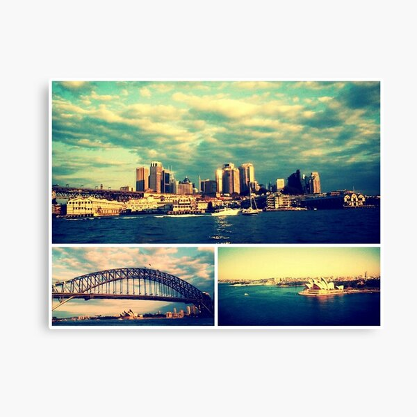Postcards from Sydney Canvas Print