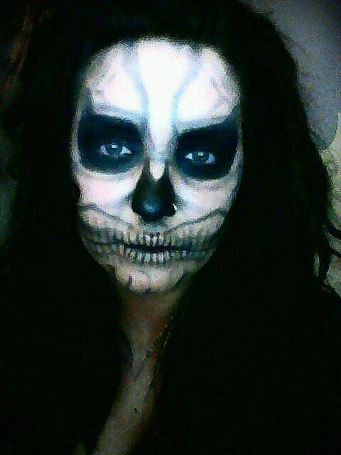 lady gaga skull makeup tutorial