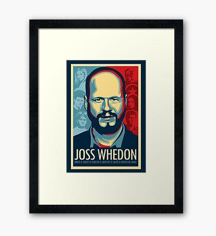 Joss Whedon es mi maestro ahora Lámina enmarcada