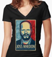 Joss Whedon Is My Master Now Women's Fitted V-Neck T-Shirt