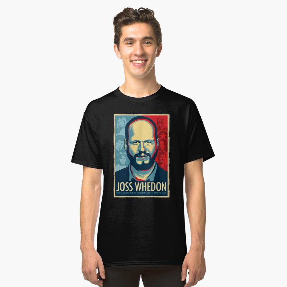 Joss Whedon Is My Master Now Classic T-Shirt Front