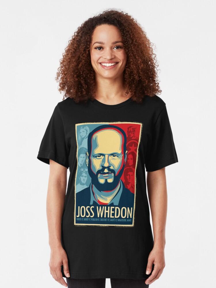 Vista alternativa de Camiseta ajustada Joss Whedon es mi maestro ahora