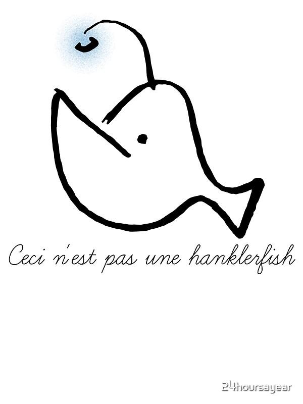 Ceci n 39 est pas une hanklerfish stickers by 24hoursayear - Ceci n est pas une chaise ...