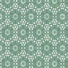 Mint Green Floral Pattern by pjwuebker