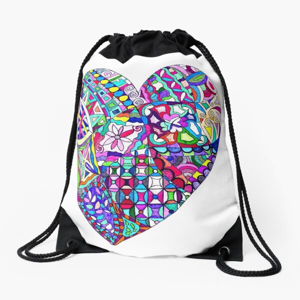 Love is the Gift Drawstring Bag