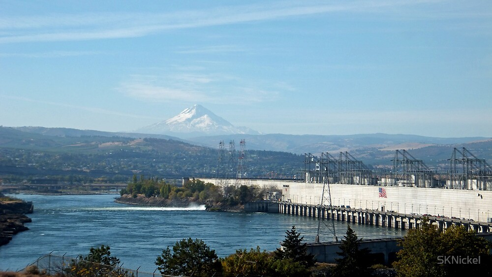 Columbia River with Mt. Hood by SKNickel