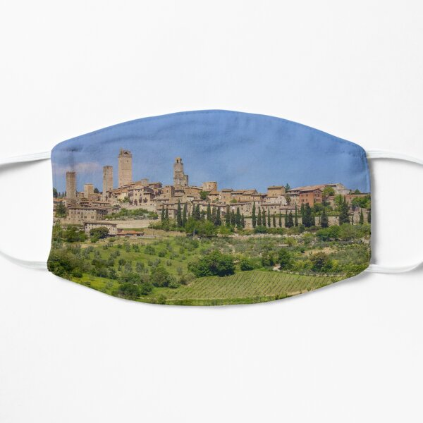San Gimignano in Italy with vineyards Small Mask