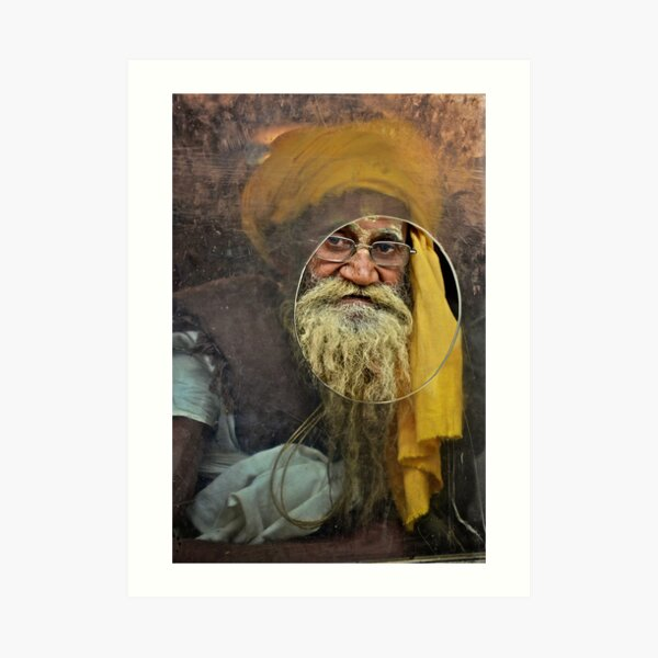 Yellow Turban at the Window Art Print
