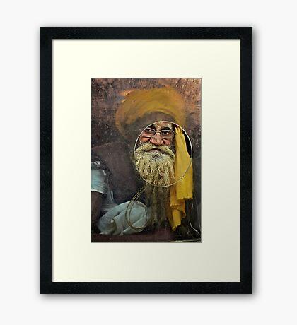 Yellow Turban at the Window Framed Print