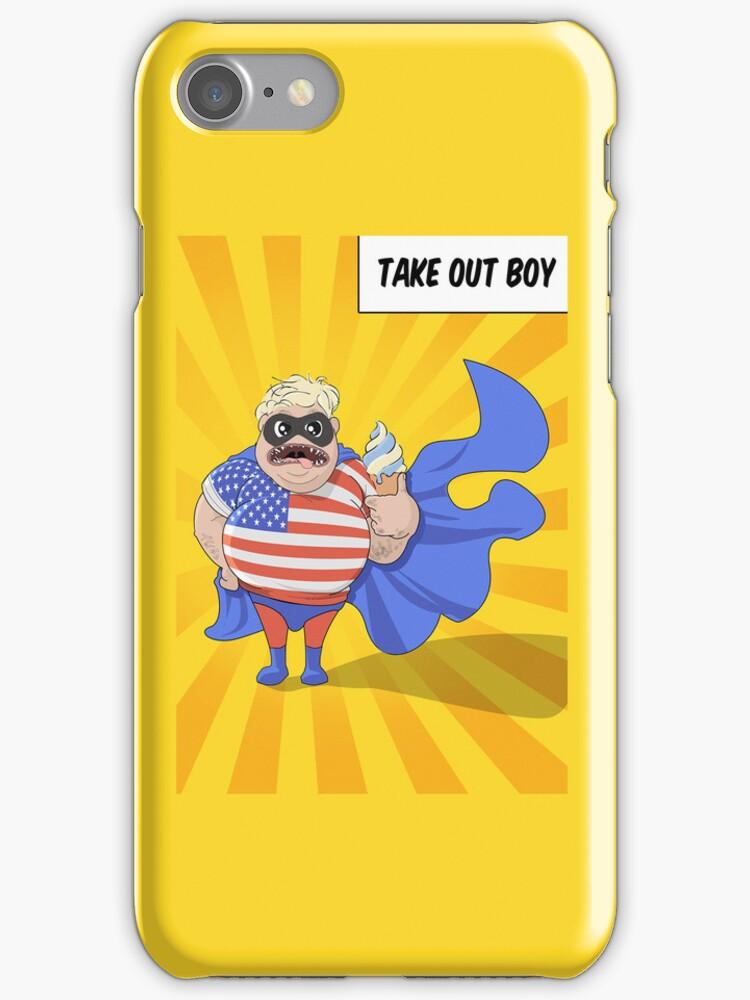 Superhero  'Take Out Boy' by Creative Spectator