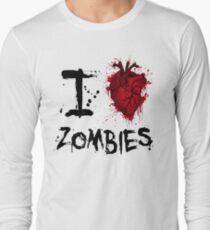 I heart zombies Long Sleeve T-Shirt