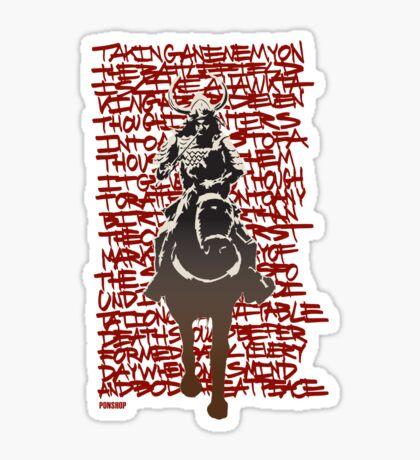 Shogun #1 Tee Sticker