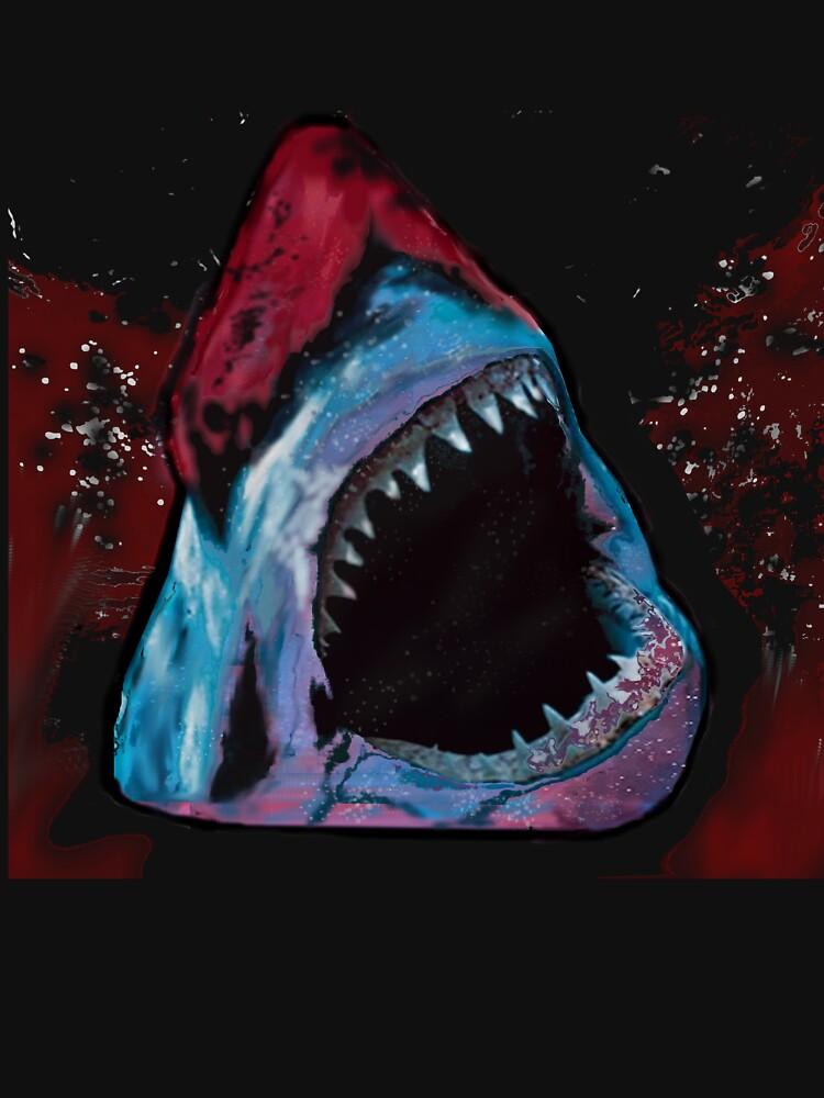 12th Doctor Galaxy Shark T-Shirt by TimeyWimeySpacy