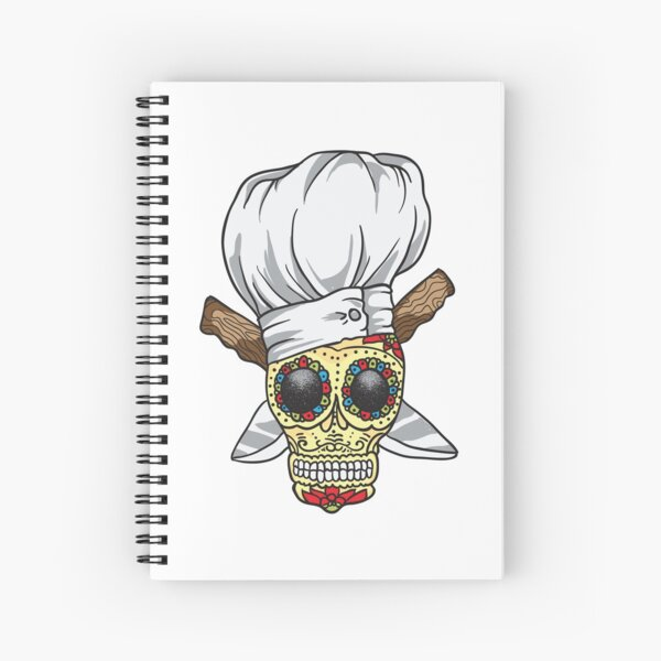 Chef Skull Spiral Notebook
