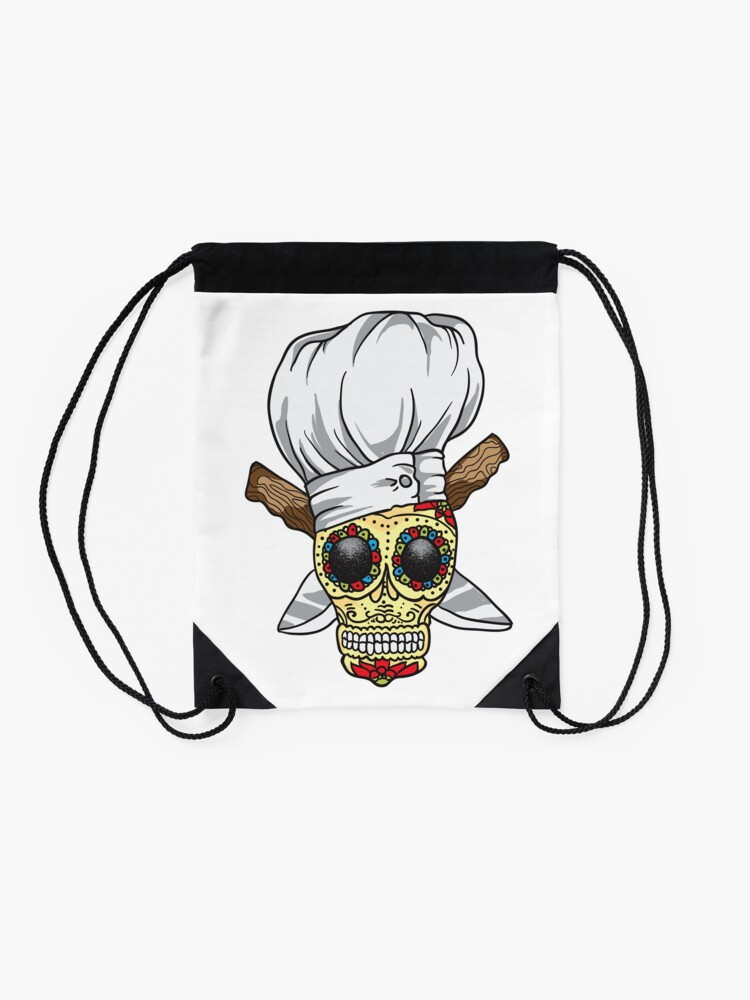 Alternate view of Chef Skull Drawstring Bag