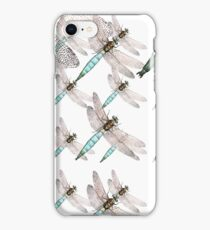 Dragonfly Air Force on White iPhone Case/Skin