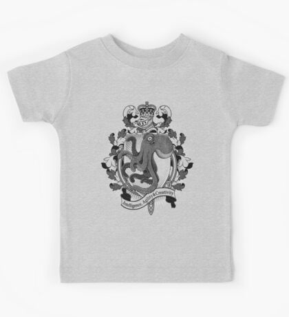 Octopus Coat Of Arms Heraldry Kids Clothes