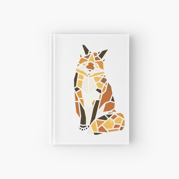 Sitting Fox Mosaic (Without Outlines) Hardcover Journal