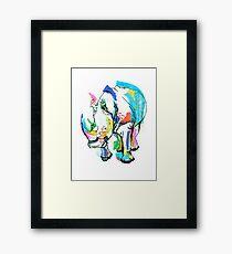 Rhino colour Framed Print