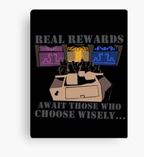 Real Rewards Canvas Print