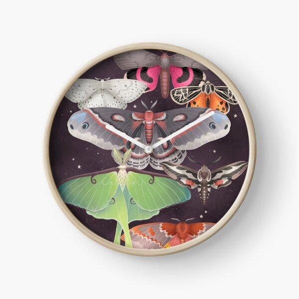 Magical Moths Clock