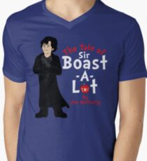 The Tale of Sir Boast-A-Lot Mens V-Neck T-Shirt