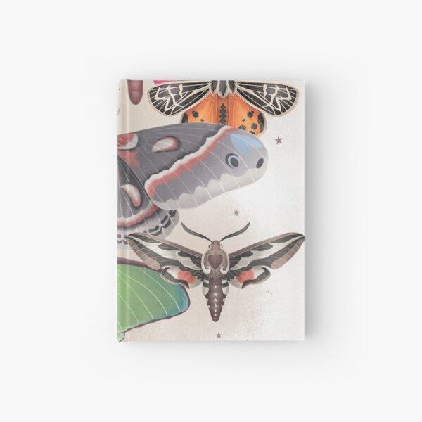 Magical Moths - Light version Hardcover Journal