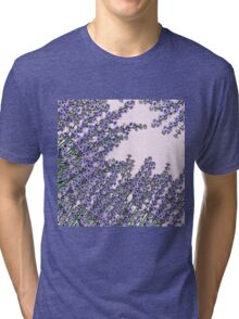 Chic pink purple cute lavender flowers pattern Tri-blend T-Shirt