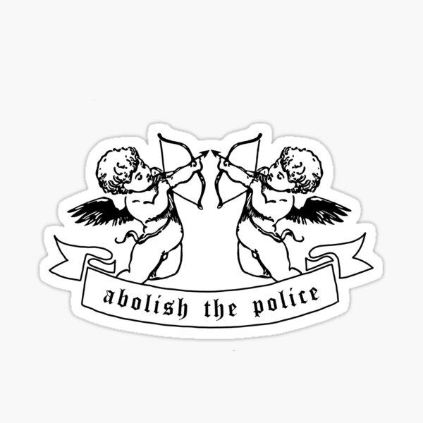 abolish the police cherubs Sticker