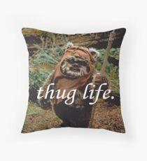 Ewok Thug Life Throw Pillow
