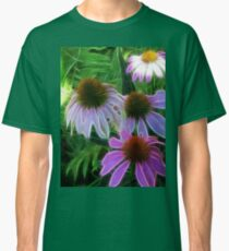 Kathie McCurdy Purple Cone Flowers Abstract Classic T-Shirt