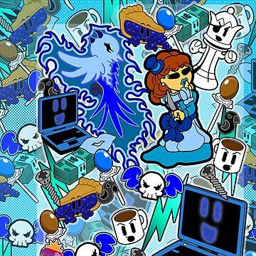 Velvet Blue (iPad & iPhone) by CharmerPantsOff