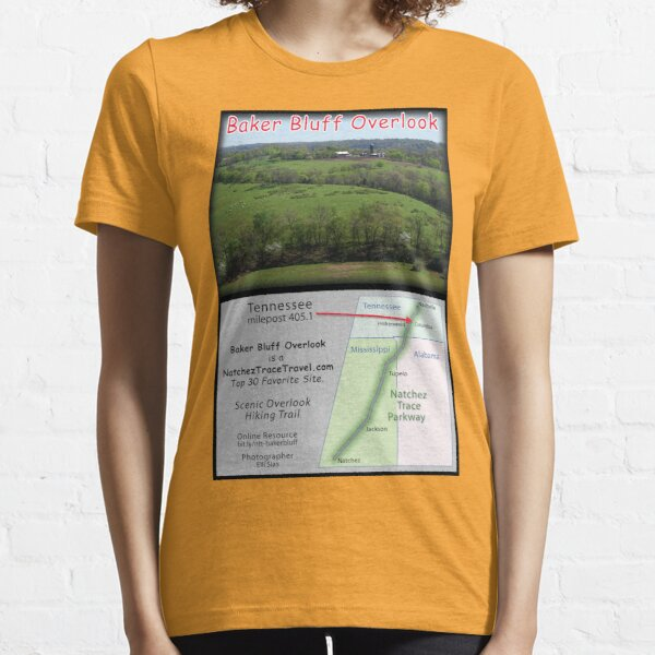 Baker Bluff Overlook (spring) on the Natchez Trace Parkway. Essential T-Shirt