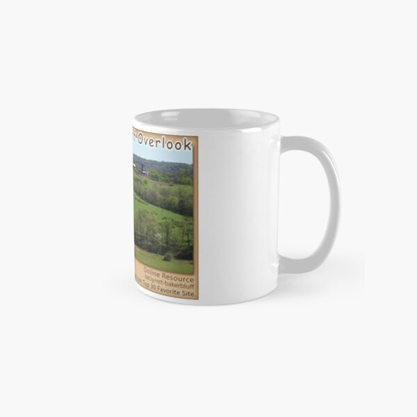 Baker Bluff Overlook (spring) on the Natchez Trace Parkway. Classic Mug