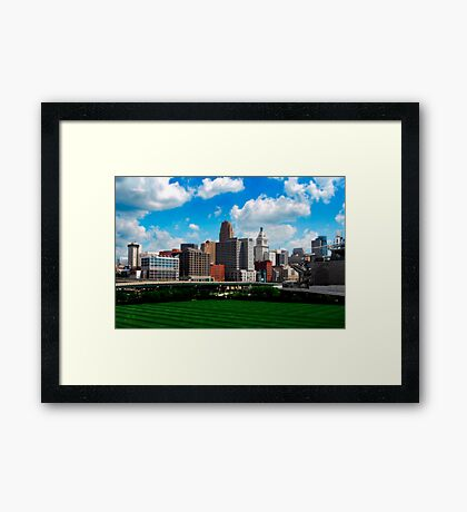 Cincinnati Skyline 7 Framed Print