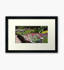Spring border  Framed Print