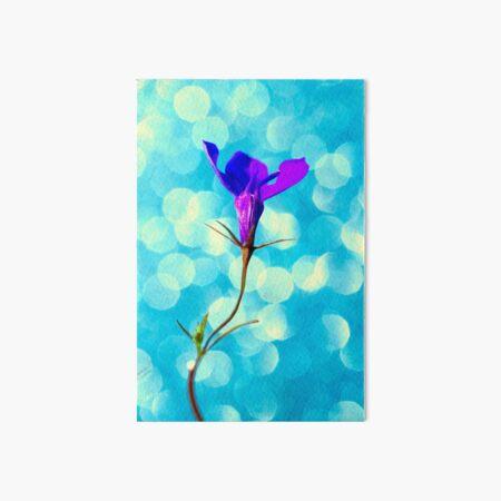 Purple Lobelia Flower Art Board Print