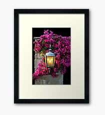 7pm And the Light Is On! Framed Print