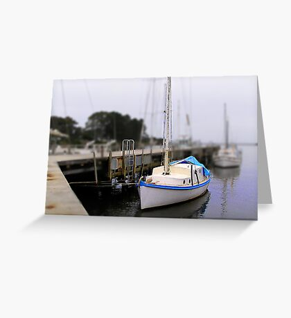 Wynyard Wharf in minature Greeting Card