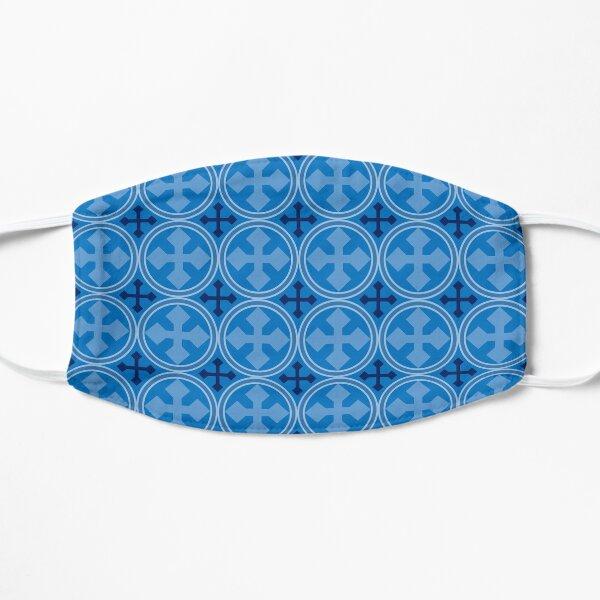 Greek Circle Cross in Blue Flat Mask