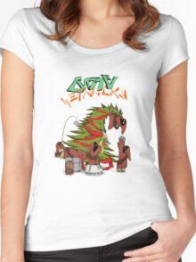 Merry Utini Xmas Basic Women's Fitted Scoop T-Shirt
